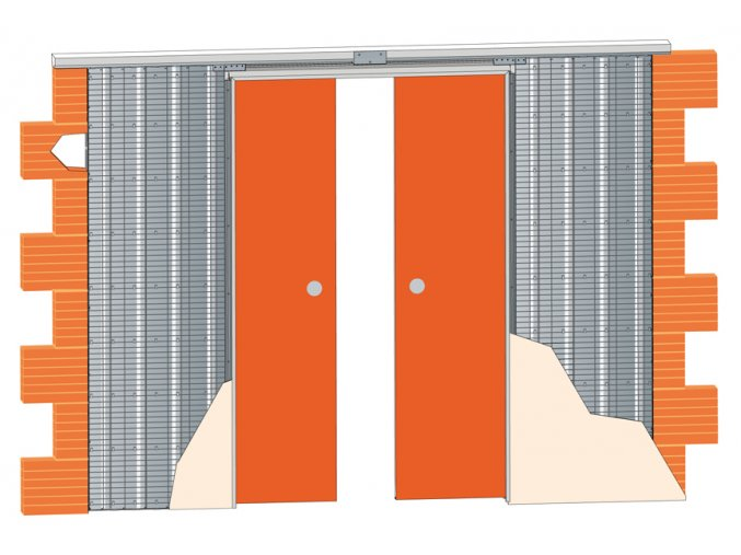 2250 mm - Stavební pouzdro JAP 713  EMOTIVE LINE - KOMFORT