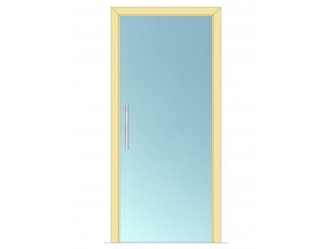 600 mm - Celoskleněné dveře - posuvné - ČIRÉ