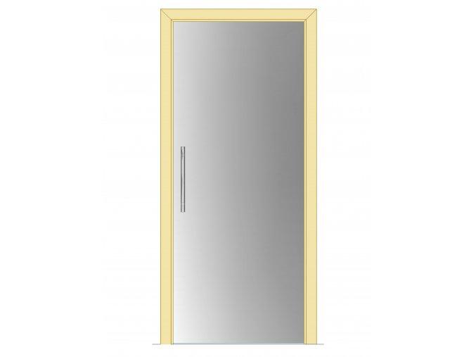 600 mm - Celoskleněné dveře - posuvné - SATINÁTO