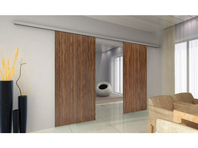 TRIX ZERO pro dřevěné dveře - dvoukřídlý posuv