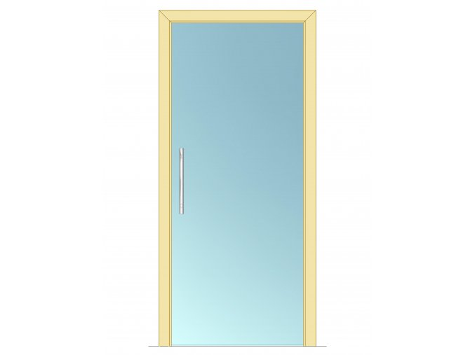 1200 mm - Celoskleněné dveře - posuvné - ČIRÉ