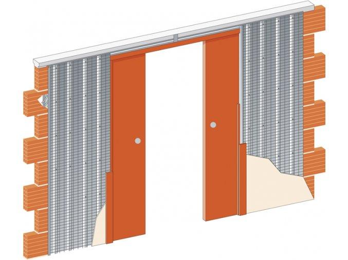 2050 mm - Stavební pouzdro JAP 715 NORMA LINE - KOMFORT - ZEĎ