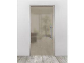 Celoskleněné dveře do pouzdra - Satinato Bronz (Průchozí výška (cm) 210, Průchozí šířka (cm) 120)