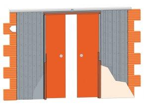 Stavební pouzdro JAP 711 LATENTE LINE - KOMFORT 2250 mm