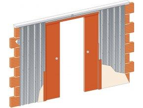 2050 mm - Stavební pouzdro JAP 715 NORMA LINE - KOMFORT - SDK