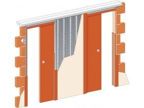 2x 700 mm - Stavební pouzdro JAP 720 NORMA LINE - UNIBOX - ZEĎ