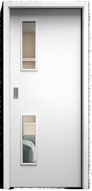 SAPELI ELEGANT KOMFORT M32 - CPL LAMINÁT - POSUVNÉ DVEŘE VČ. ZÁRUBNĚ - Bílá hladká Průchozí šířka (cm): 60, Průchozí výška (cm): 197