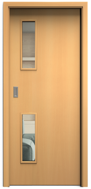 SAPELI ELEGANT KOMFORT M32 - DÝHA - POSUVNÉ DVEŘE VČ. ZÁRUBNĚ - Buk Průchozí šířka (cm): 60, Průchozí výška (cm): 197