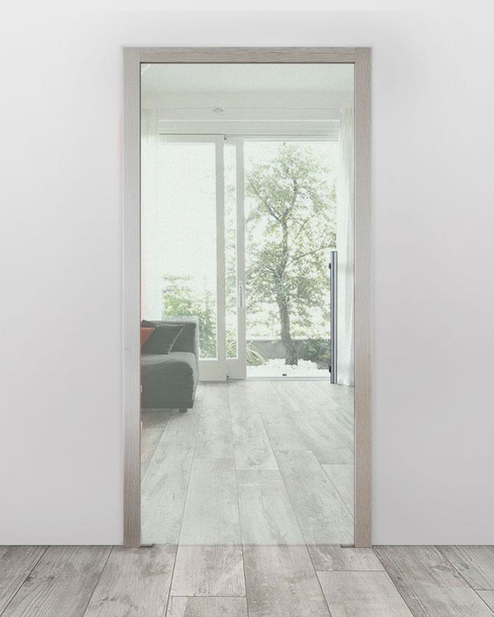 Celoskleněné dveře do pouzdra - Čiré Průchozí šířka (cm): 60, Průchozí výška (cm): 197