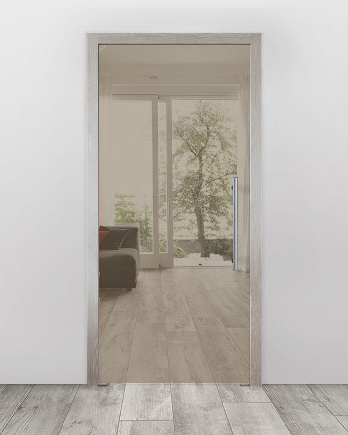 Celoskleněné dveře do pouzdra - Planibel bronz Průchozí šířka (cm): 60, Průchozí výška (cm): 197