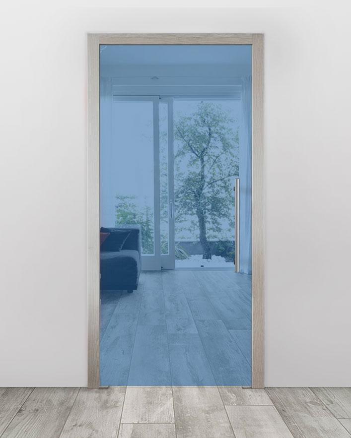 Celoskleněné dveře do pouzdra - Planibel modrá Průchozí šířka (cm): 60, Průchozí výška (cm): 197