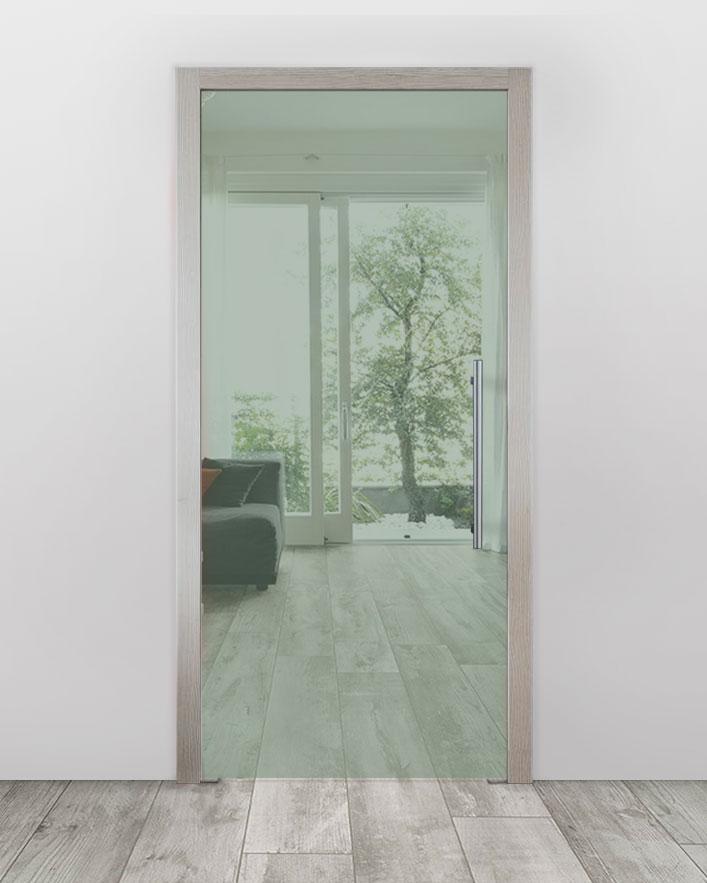 Celoskleněné dveře do pouzdra - Planibel zelená Průchozí šířka (cm): 60, Průchozí výška (cm): 197