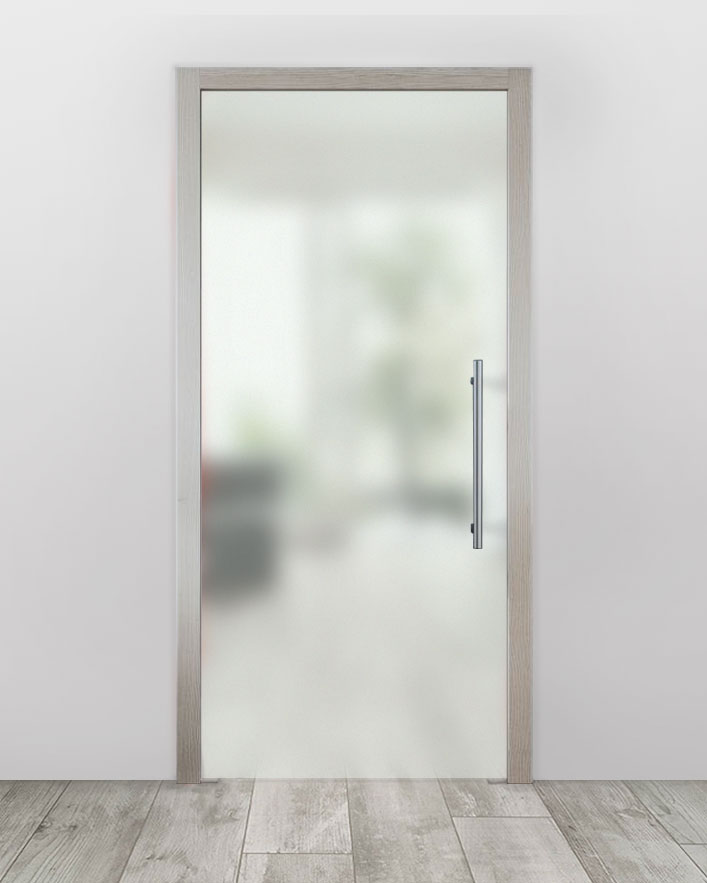Celoskleněné dveře do pouzdra - Satinato Bílá Průchozí šířka (cm): 60, Průchozí výška (cm): 197