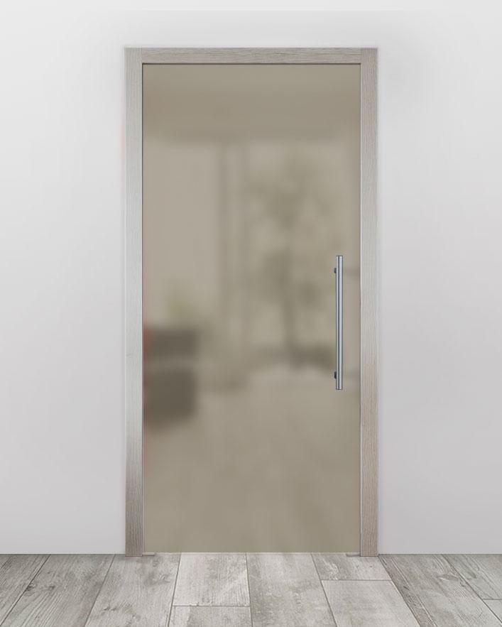 Celoskleněné dveře do pouzdra - Satinato Bronz Průchozí šířka (cm): 60, Průchozí výška (cm): 197