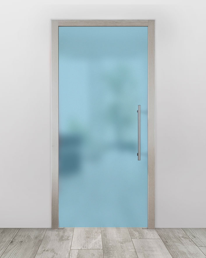 Celoskleněné dveře do pouzdra - Satinato modrá Průchozí šířka (cm): 60, Průchozí výška (cm): 197