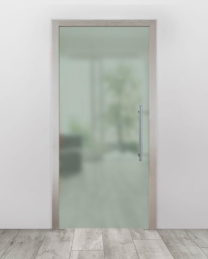 Celoskleněné dveře do pouzdra - Satinato Zelená Průchozí šířka (cm): 60, Průchozí výška (cm): 197