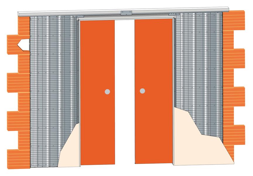 Stavební pouzdro JAP 713 EMOTIVE LINE - KOMFORT 1450mm Výška: ATYP - napište do poznámky, Typ příčky: SDK