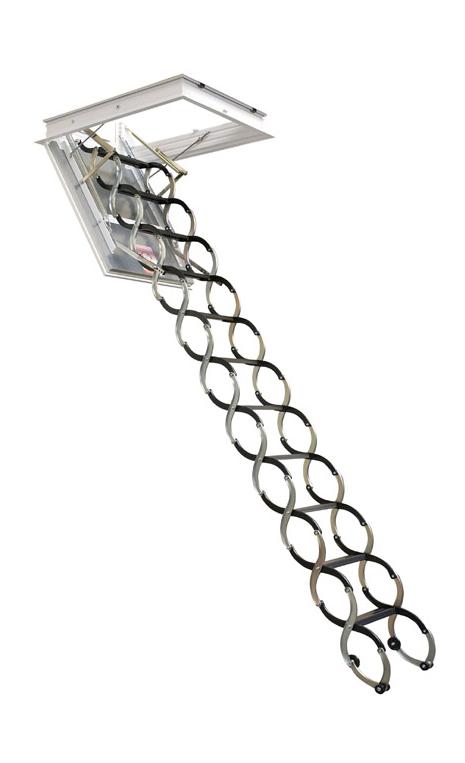 Půdní schody JAP LUSSO - ZP - zateplené Stavební otvor délka x šířka:: 1200 x 600 mm, Výška stropu:: 2200 - 2400 mm od podlahy ke stropu