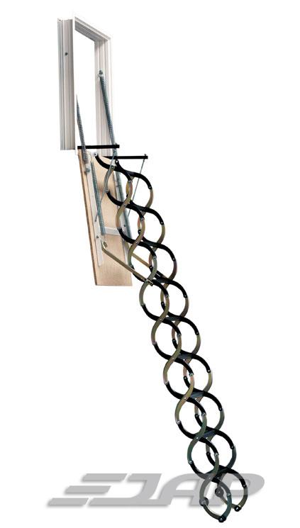 Půdní schody JAP VERTICALE Velikost stropního otvoru:: 90 x 70 cm