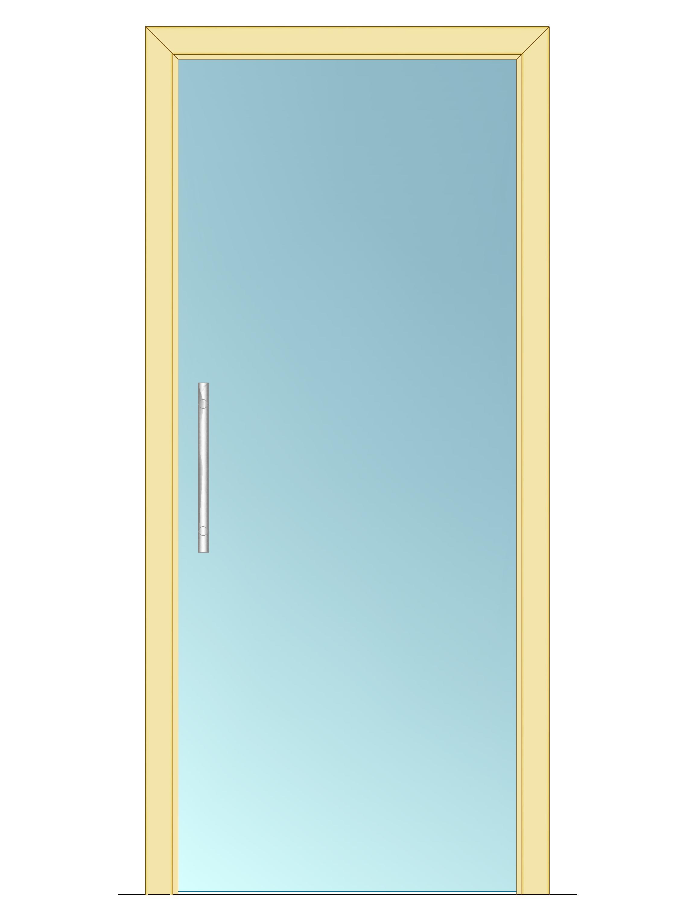 Celoskleněné dveře - posuvné - ČIRÉ 600mm Výška: 210cm