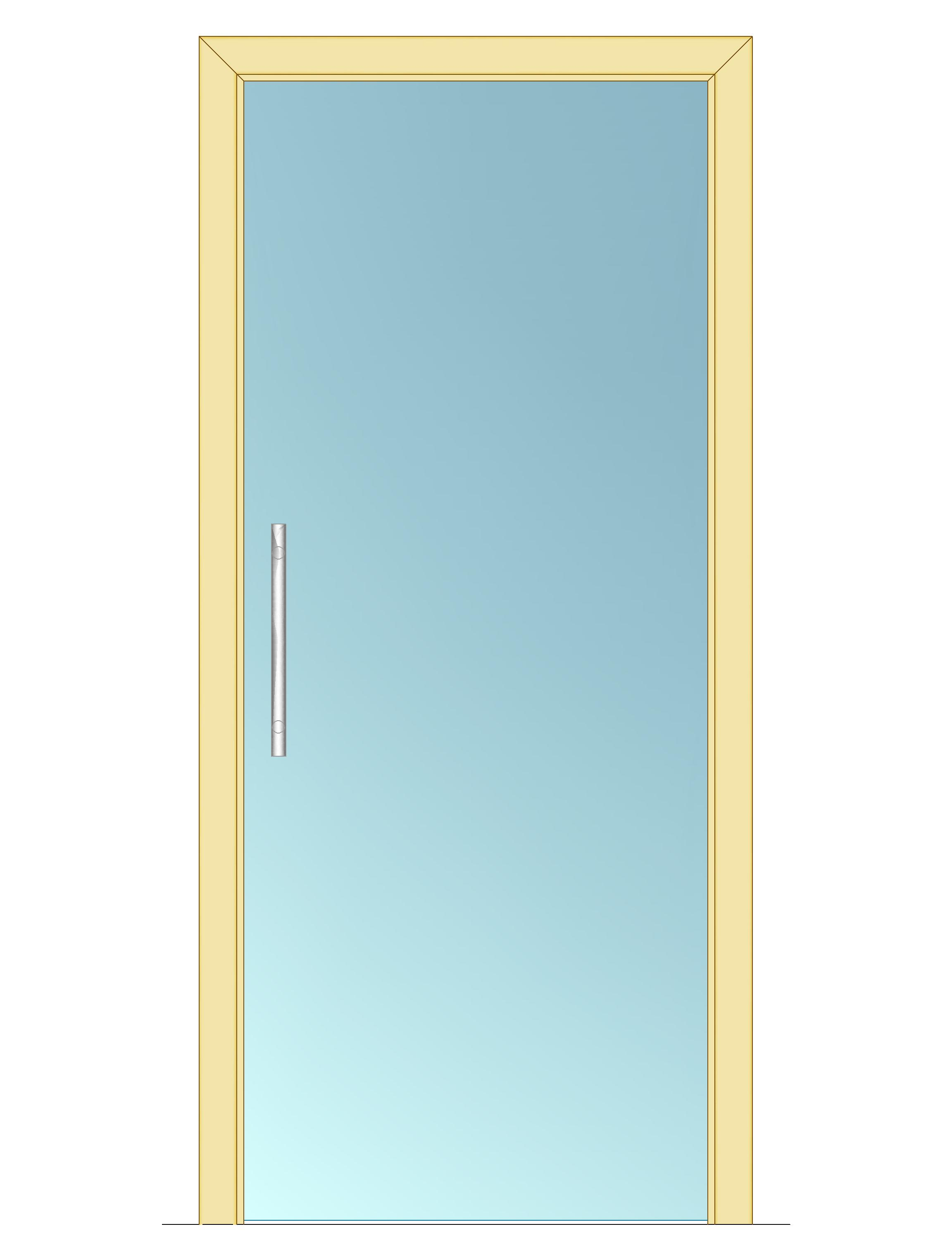 Celoskleněné dveře - posuvné - ČIRÉ 1000mm Výška: 210cm