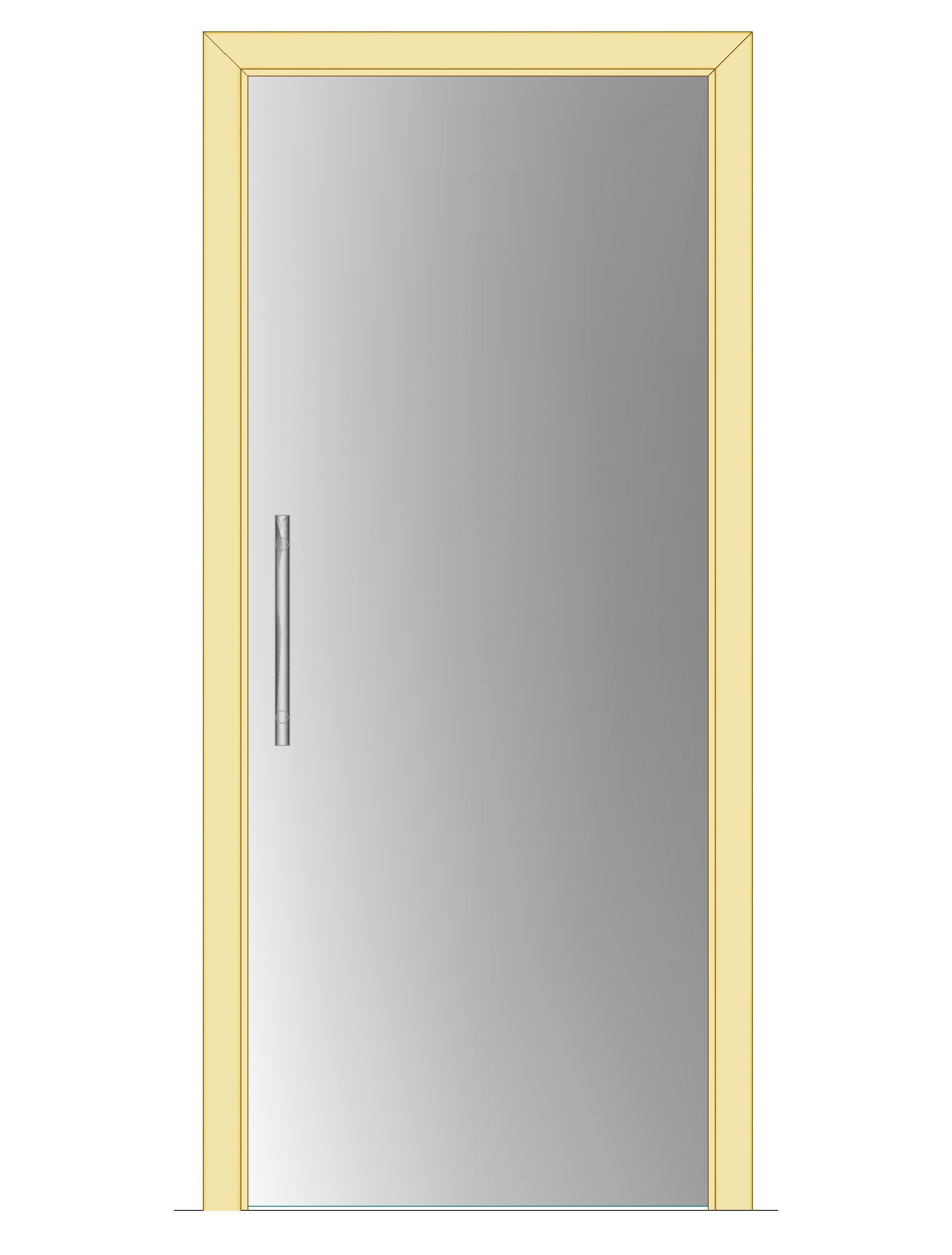 Celoskleněné dveře - posuvné - SATINÁTO 700mm Výška: 210cm