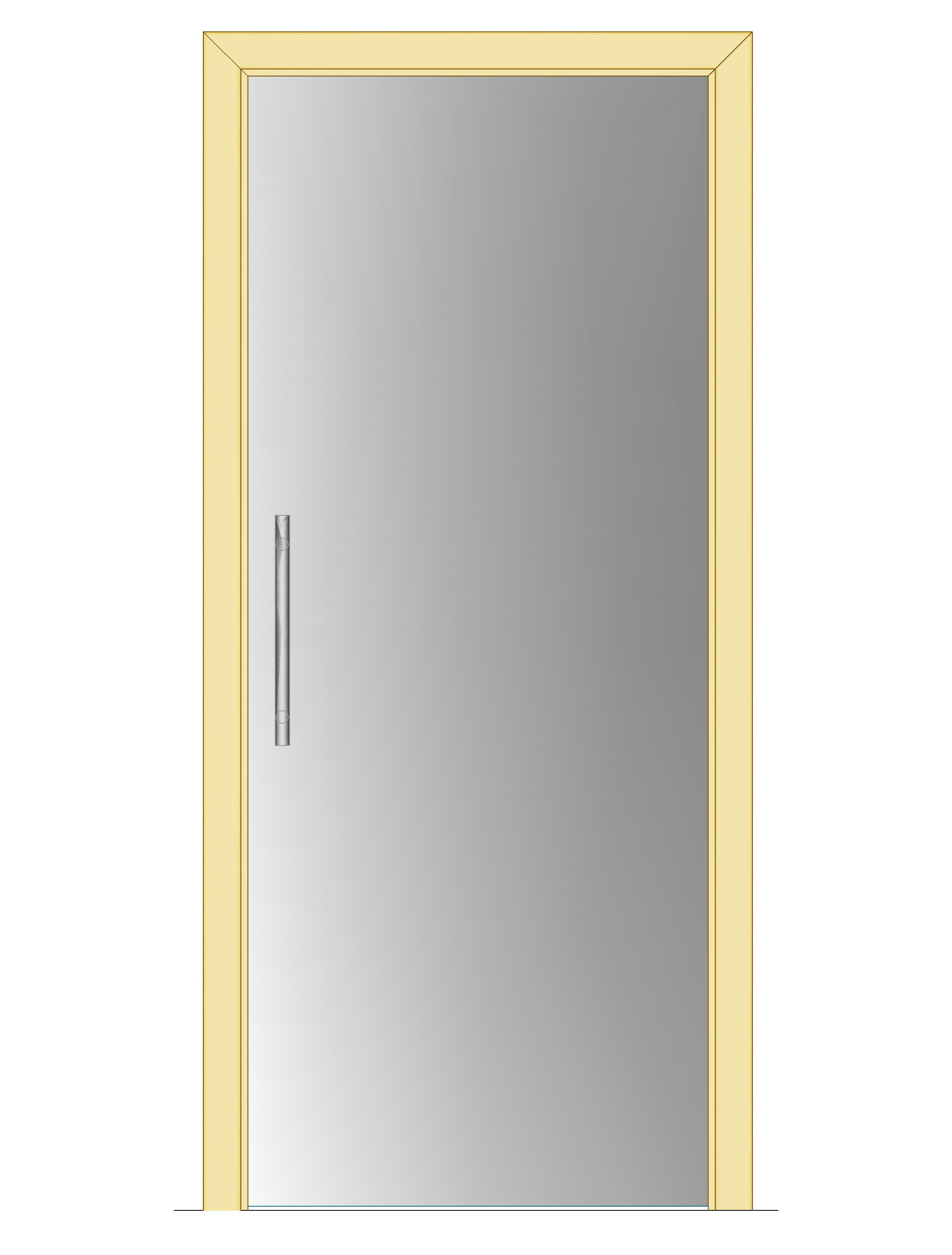 Celoskleněné dveře - posuvné - SATINÁTO 800mm Výška: 210cm
