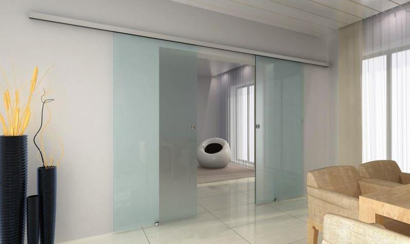 TRIX ZERO pro celoskleněné dveře dvoukřídlý posuv Šířka průchodu: 1250 mm