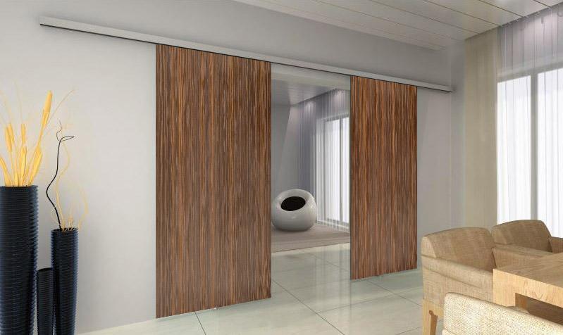 TRIX ZERO pro dřevěné dveře dvoukřídlý posuv Šířka průchodu: 1250 mm