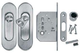 Zámek ovál - WC Povrch: OSC - chrom matný