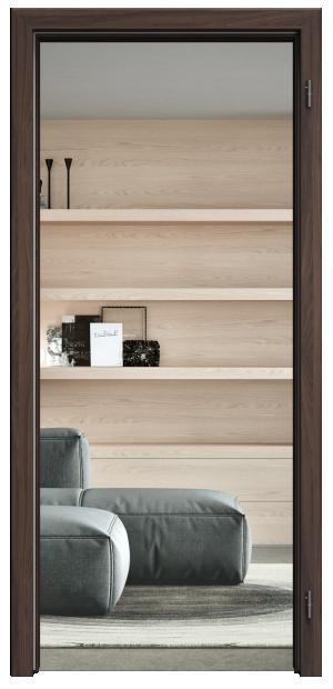 NORMAL zárubeň pro celoskleněné dveře - SAPELIT Průchozí šířka (cm): 60, Průchozí výška (cm): 197