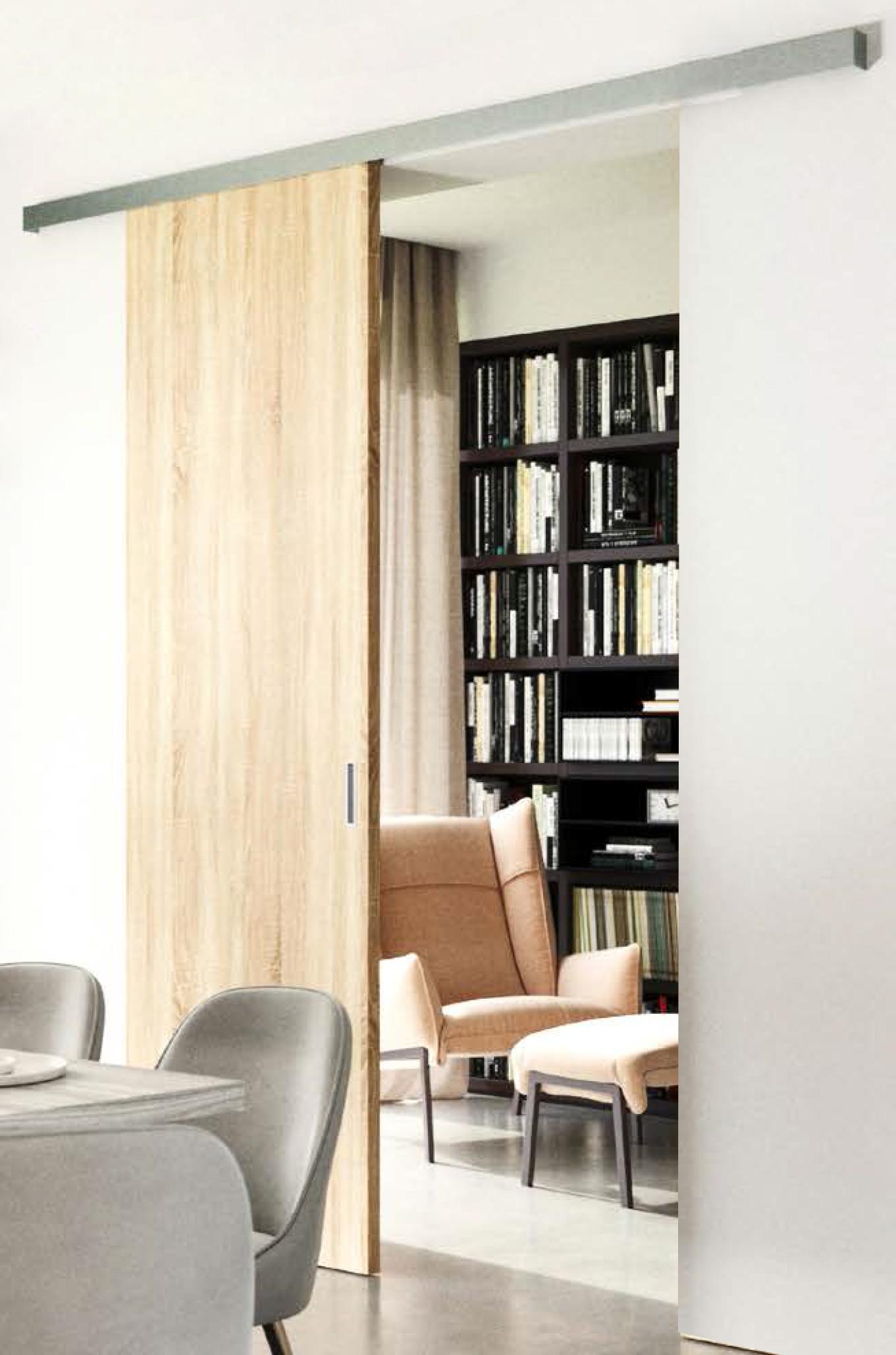 TRIX TRENDY pro dřevěné dveře - jednokřídlý posuv Šířka průchodu: 600 mm