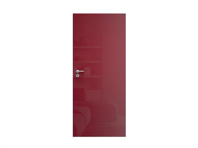 web dveře spali červený lesk