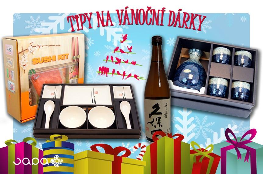 Tipy na vánoční dárky. Vyberte si ze setů na sushi, Sake setů a čajových setů.