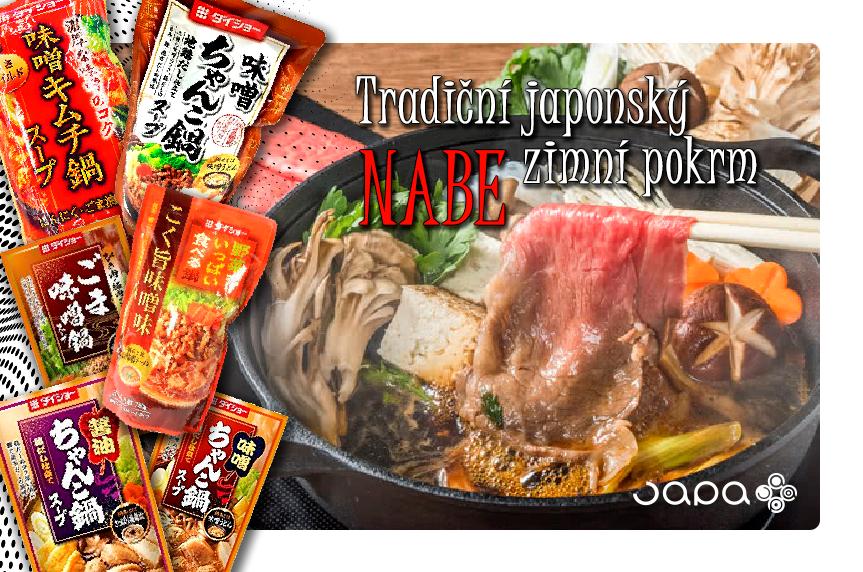 Ingredience na tradiční zimní pokrm Nabe