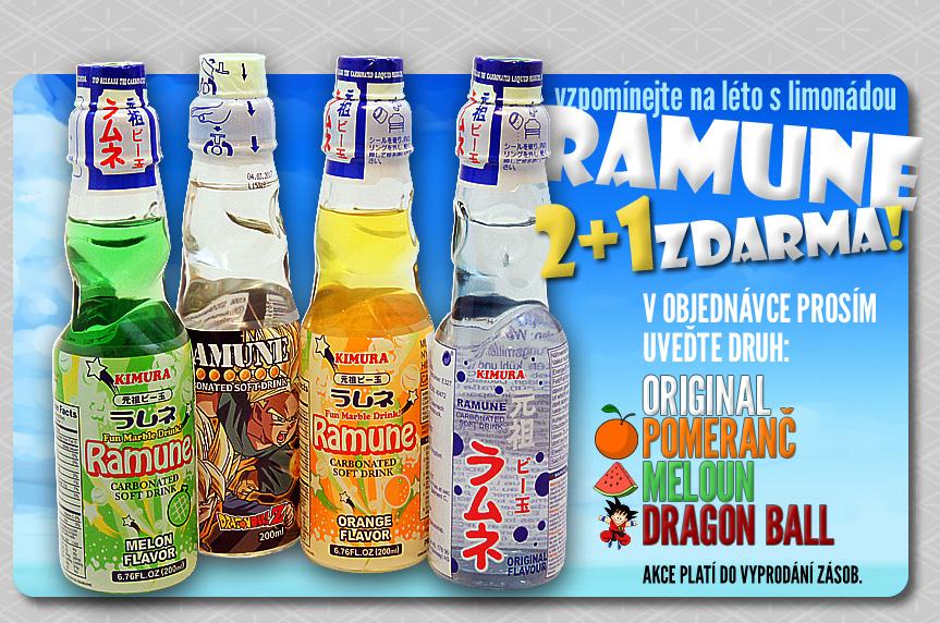 Výhodná akce na limonády Ramune (2+1 zdarma)