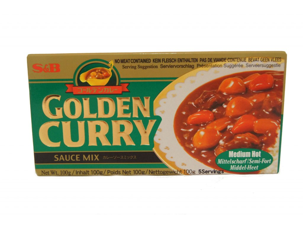 S&B Golden Curry Med Hot 92g