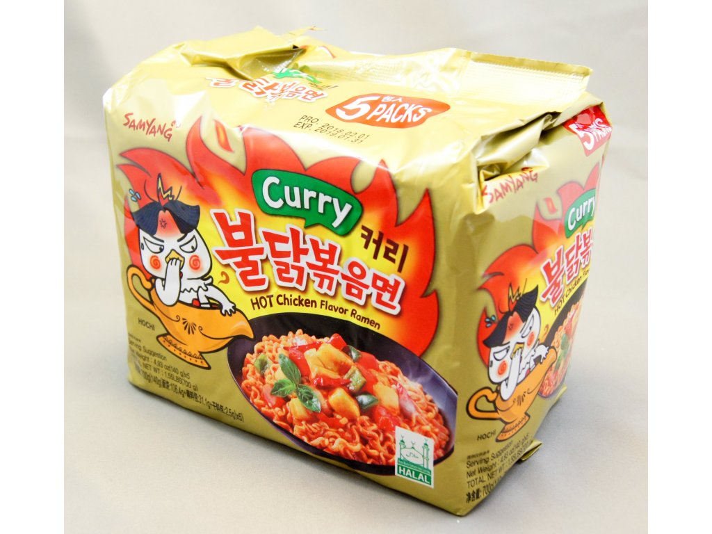 Samyang Curry Hot Chicken Ramen 5p Japa Foods Sro Logo Halal