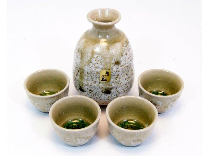 Fuji keramický set na sake (krémovo zelený KN90-1)
