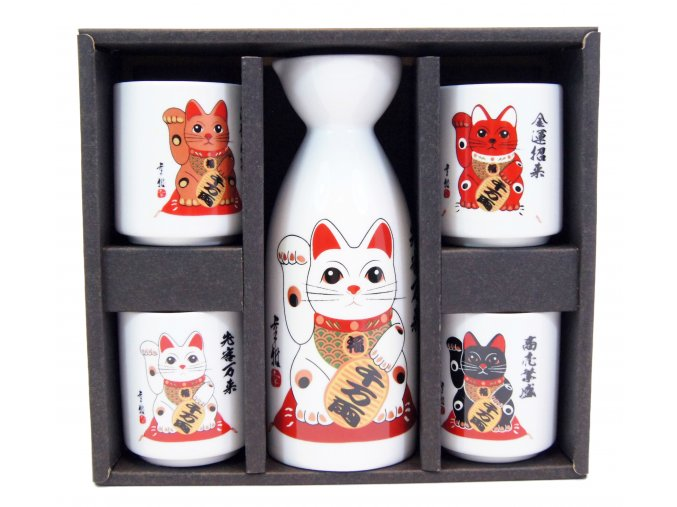 Fuji Sake set Neko ( MT81-C )