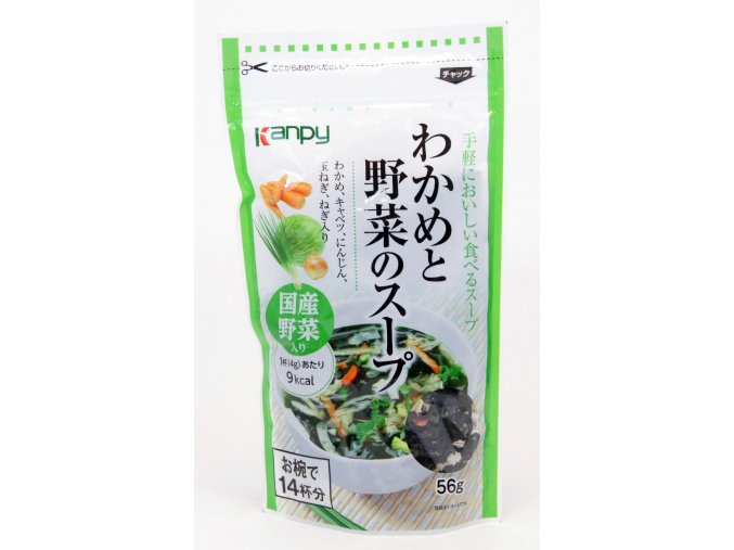 Kanpee Wakame to Yasai no Soup 56g