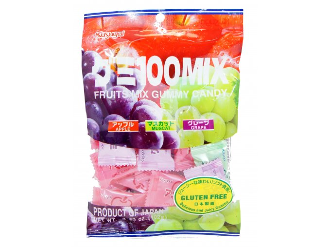 Kasugai Mix gummy Apple Muscat Grape