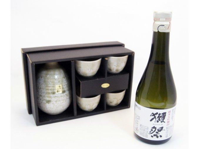 Sake Vánoční set zelený s rýžovým vínem Dassai 300 ml