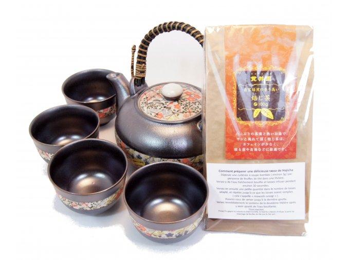 Čajový Vánoční set Arita se zeleným praženým čajem Hojicha 100 g