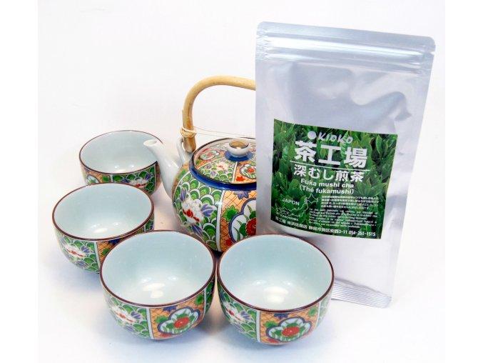 Čajový Vánoční set se zeleným čajem Sencha 50 g