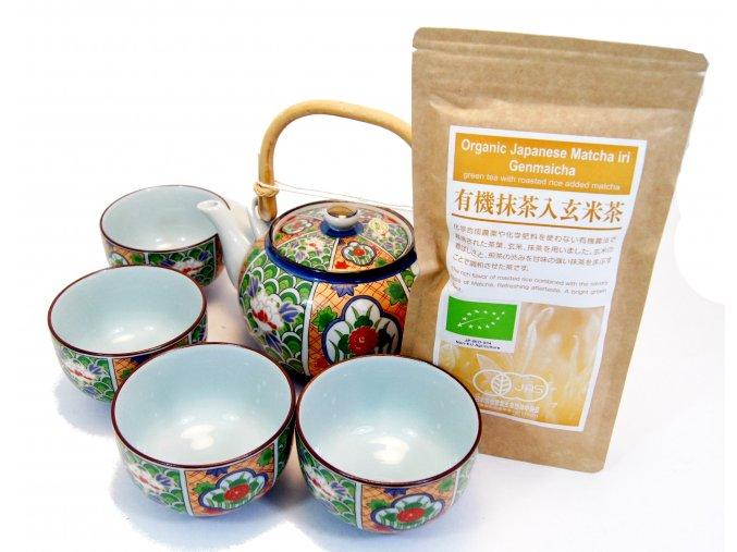 Čajový Dárkový set se zeleným čajem Genmaicha a Matcha 100 g