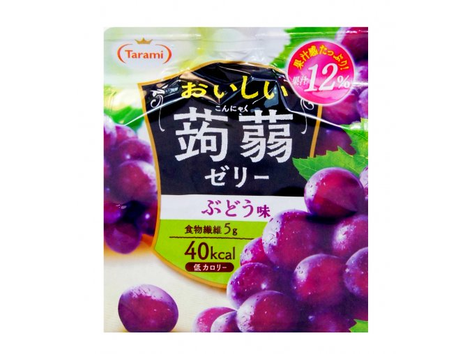 Tarami Oishii Konnyaku Jelly Budou Aji 150g