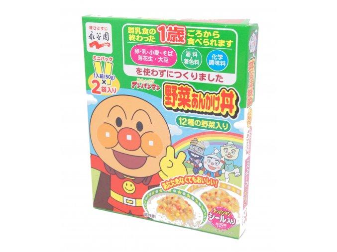 Nagatanien Anpanman Mini Pack Yasai Ankake Don 2x50g - prošlé datum minimální trvanlivosti