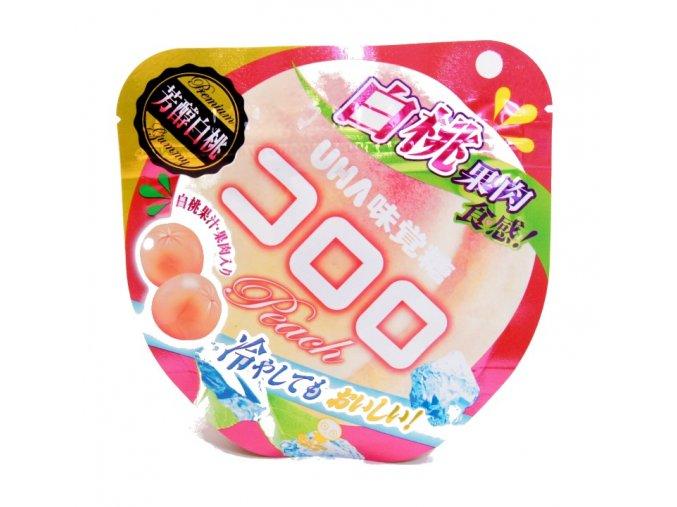 UHA Mikakuto Kororo White Peach Gummy Candy 40g