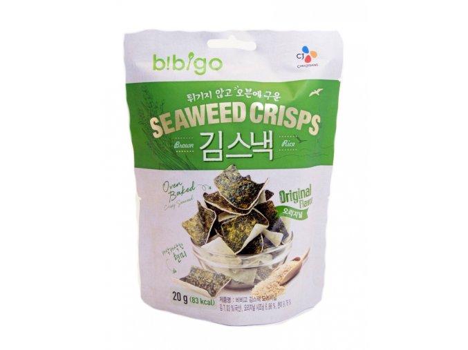 Bibigo Seaweed Crisps Original Flavor 20g